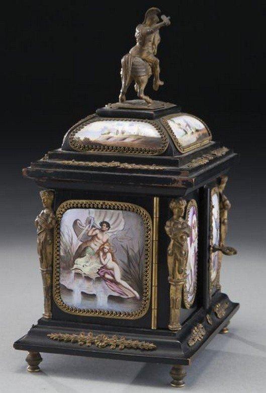 19TH CENTURY VIENNESE ENAMEL JEWELRY BOX - 3