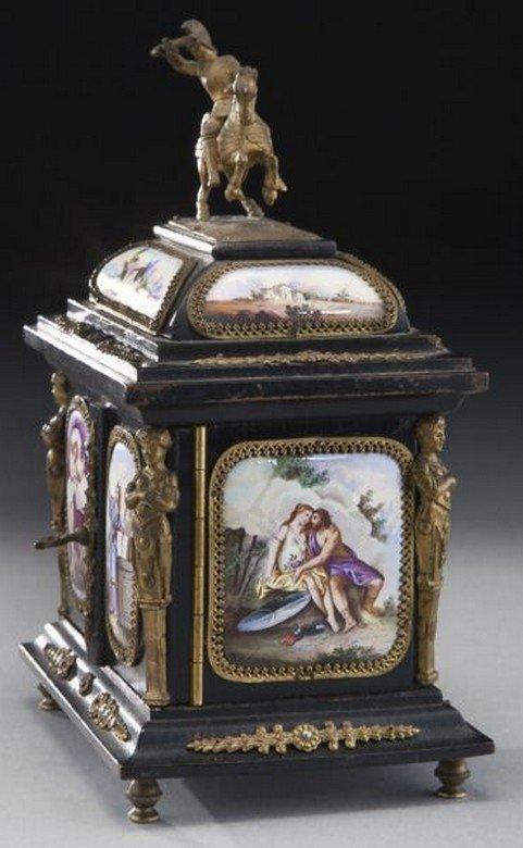 19TH CENTURY VIENNESE ENAMEL JEWELRY BOX - 4