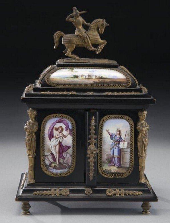 19TH CENTURY VIENNESE ENAMEL JEWELRY BOX - 5