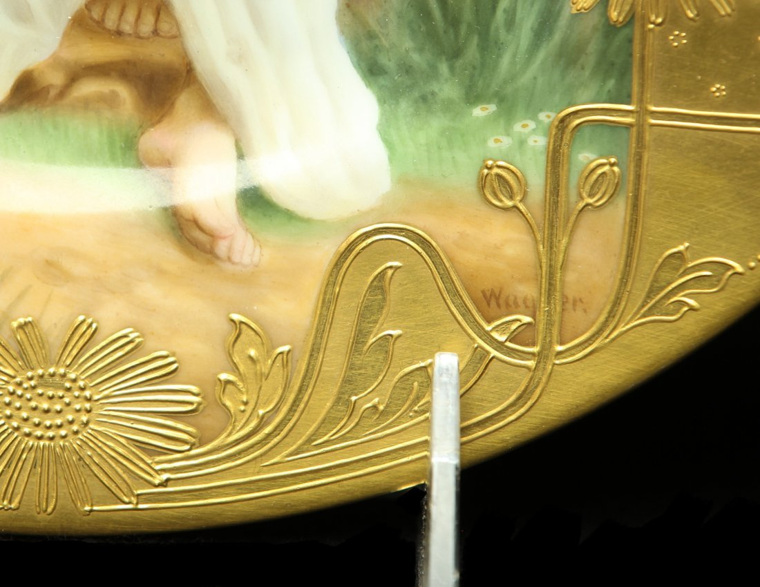 A MAGNIFICENT ROYAL VIENNA PLATE SIGNED WAGNER - 2