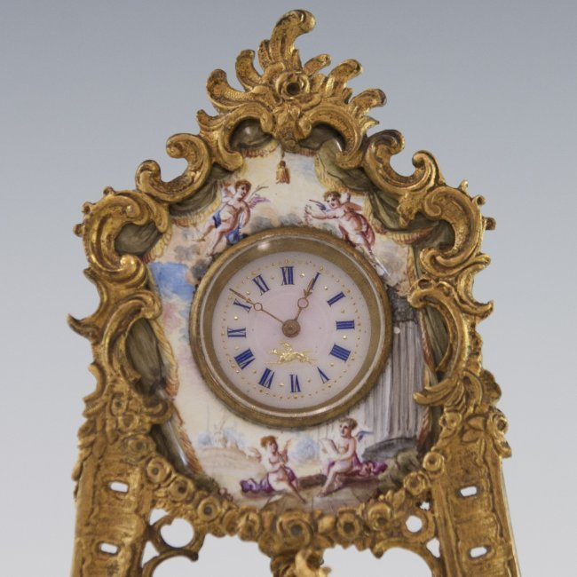 VIENNESE ENAMEL CLOCK - 3