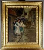 19TH CENTURY OIL PAINTING ON CANVAS SIGNED W. HERBERT
