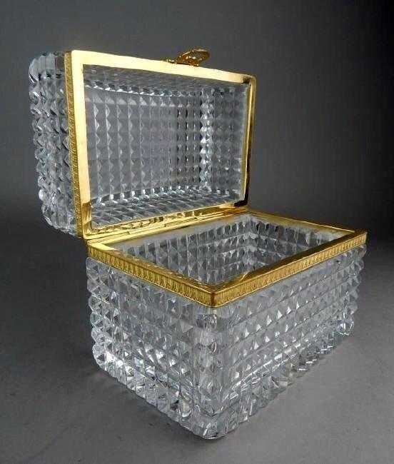 ORMOLU MOUNTED BACCARAT CRYSTAL BOX - 2