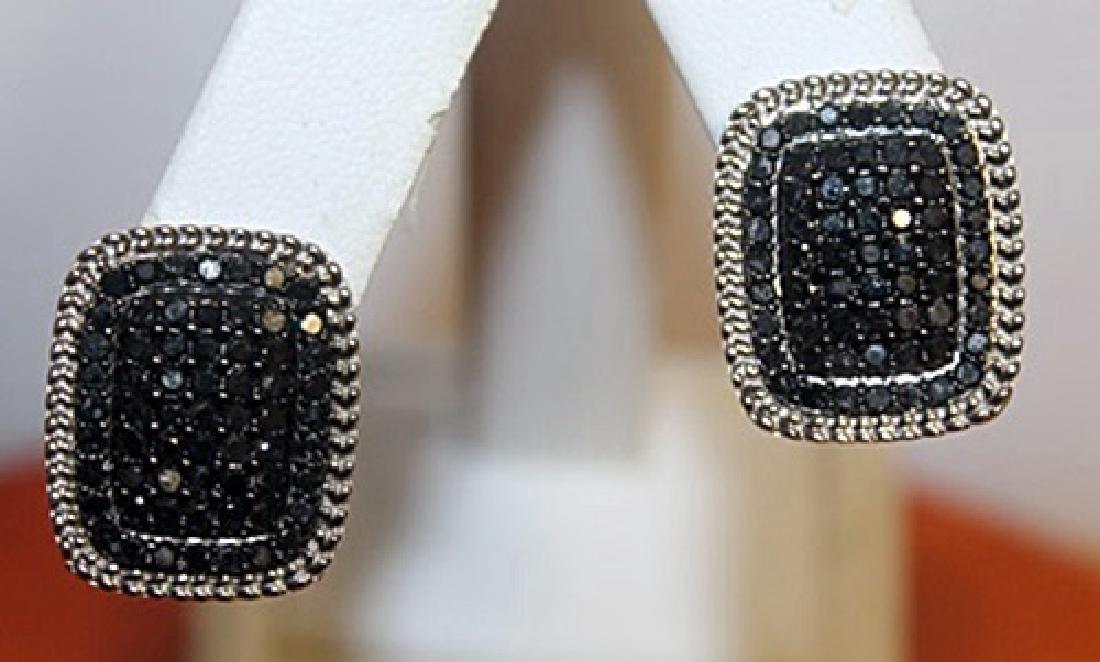 Exquisite Black Diamond Earrings