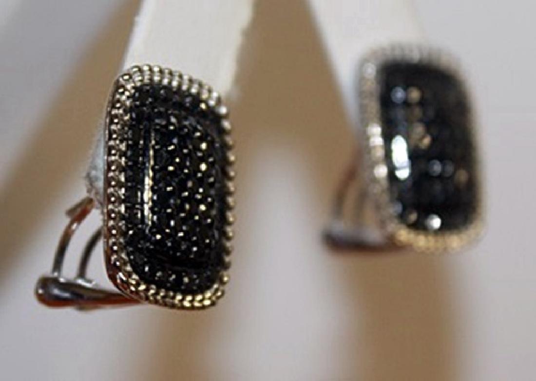 Exquisite Black Diamond Earrings - 2