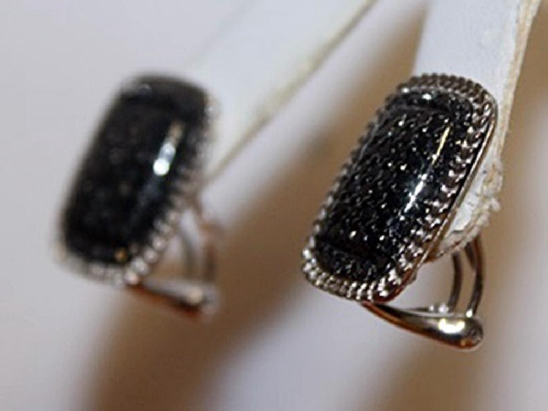 Exquisite Black Diamond Earrings - 3