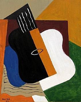 Guitar and Table 1915' - Juan Gris