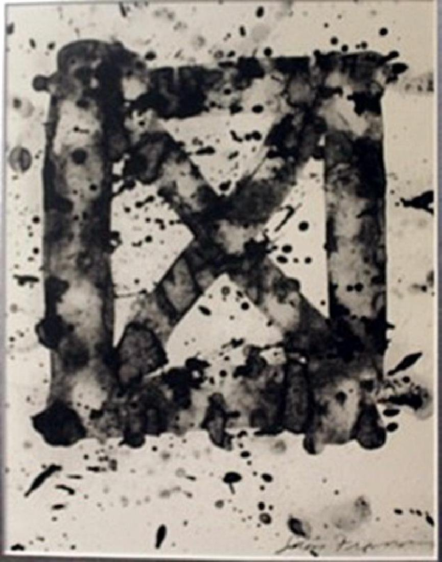 """X"" splatter lithograph - Sam Francis"