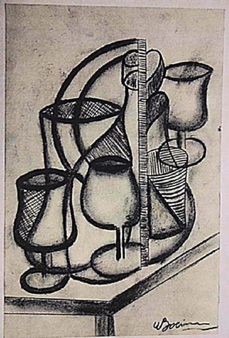 Umberto Boccioni - Table with Cups