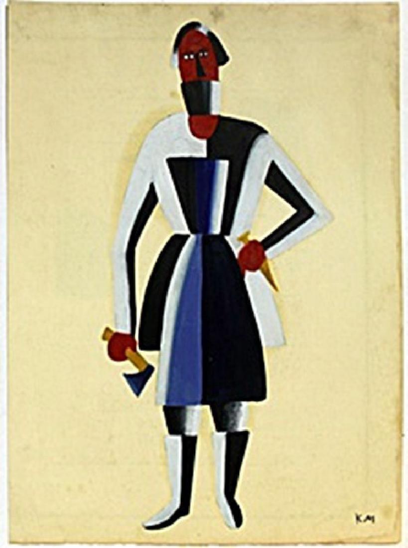 Carpenter 1910' - Kazimir Malevich