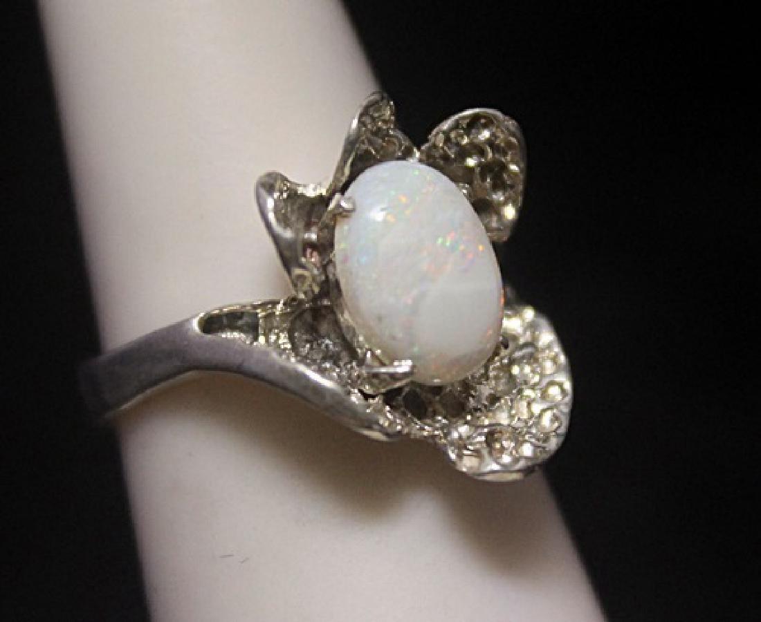 Fancy Opal Silver Ring