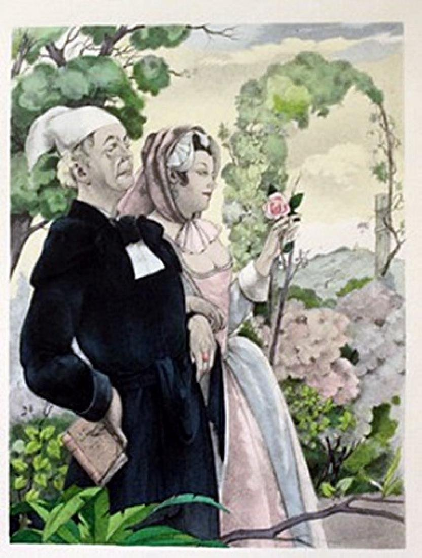 Up the isle - Lithograph -  Cleland