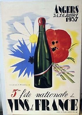 Vins De France - Lithograph  Jean a Merier