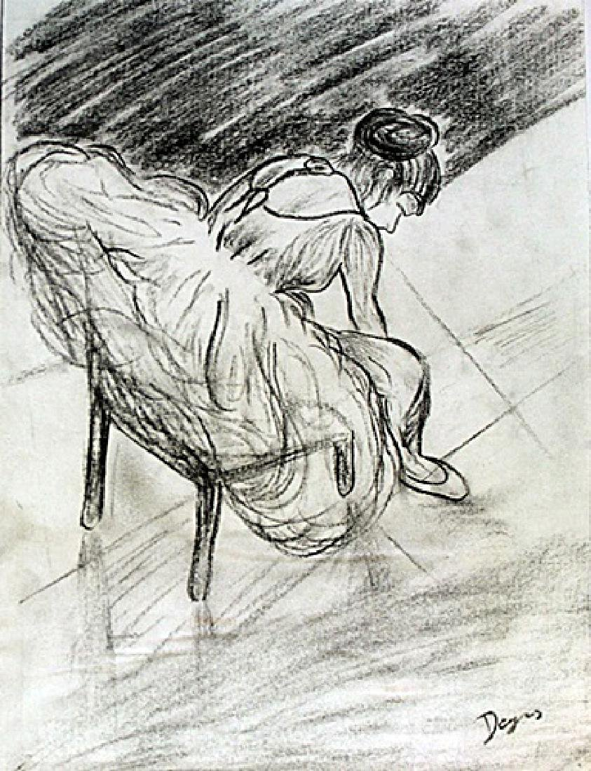 The Dancer - Drawing on Paper - Edgar Degas