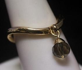Lavish 14kt Gold over Silver Floating Ball Ring