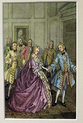 Lavander Dress - Lithograph -  Cleland