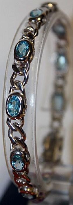 Lovely Blue Topaz Bracelet