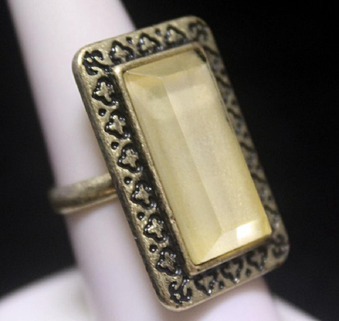 Fancy Mother of Pearl Silver Ring
