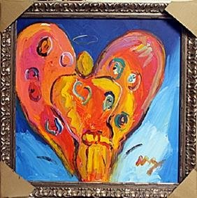 Angel Heart - Oil Painting on Canvas - Peter Max