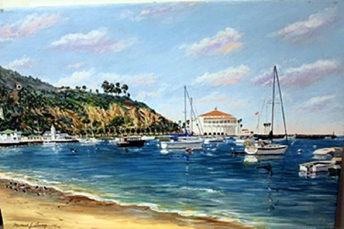 Avalon Bay - Lithograph -  Michael Lavery