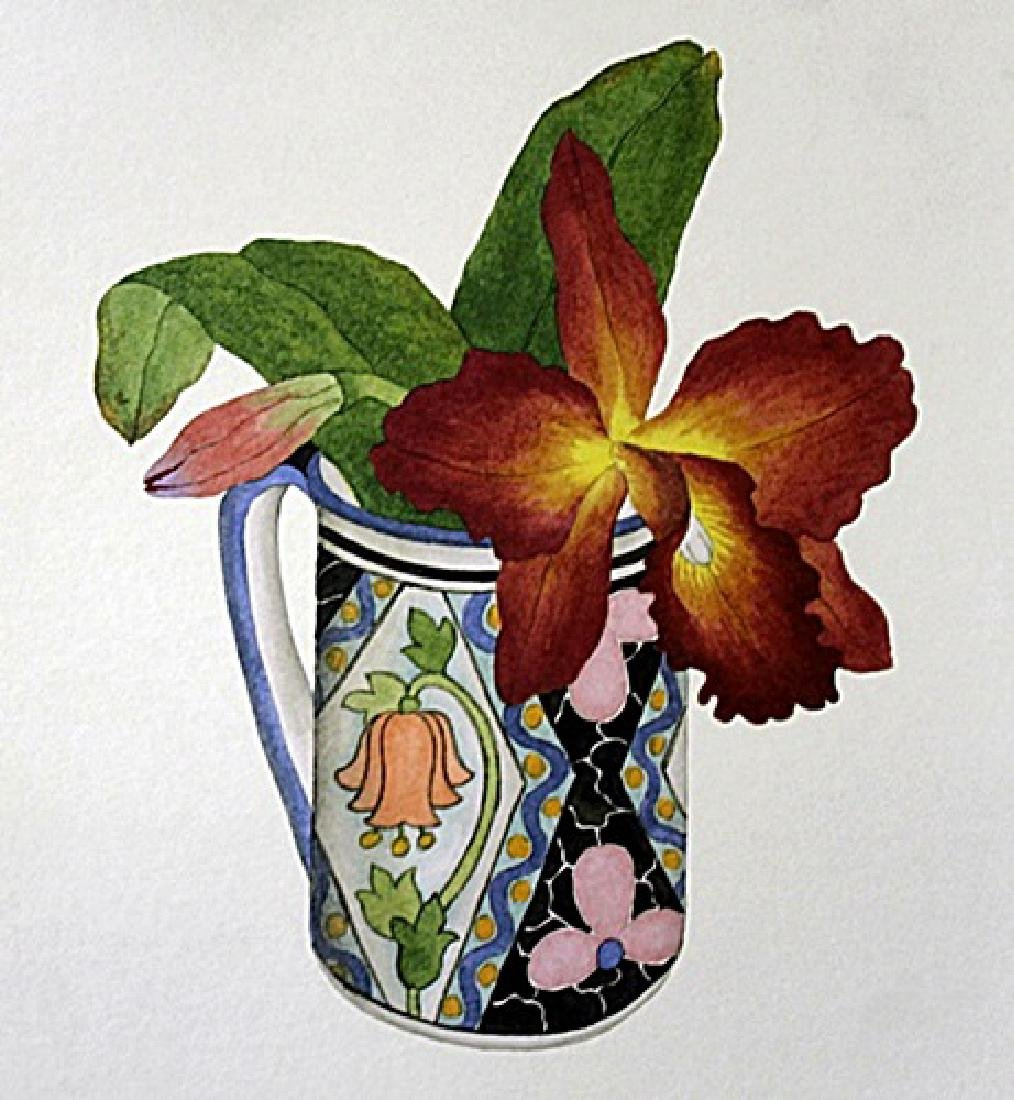 "Print ""Orchid and Spanish Cup"" after Margo Bors"
