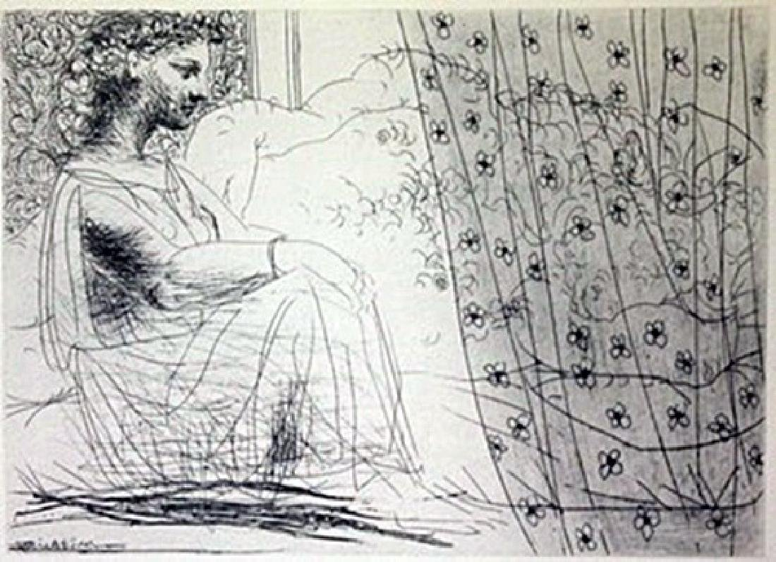 sleeping Minotaur And Women Lithograph -  Picasso