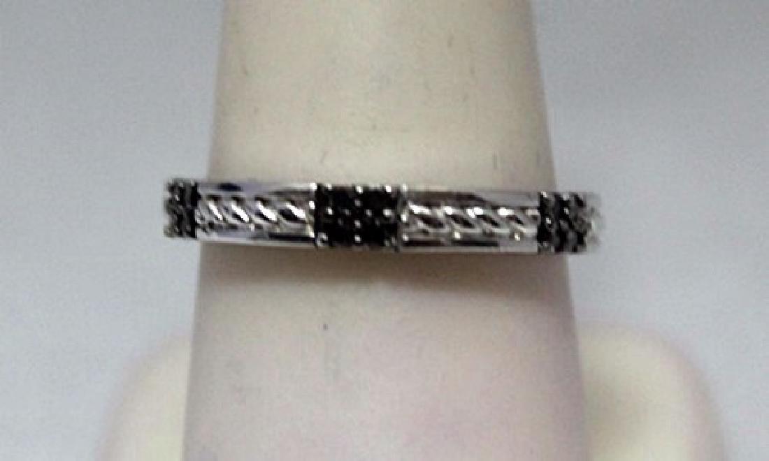 Fancy Black Diamonds Silver Band