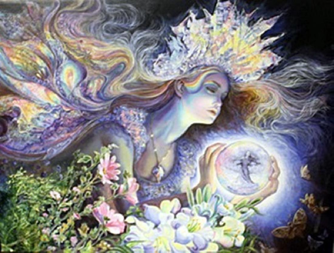 Diamond Tiara fairy - Lithograph on canvas -  Jo