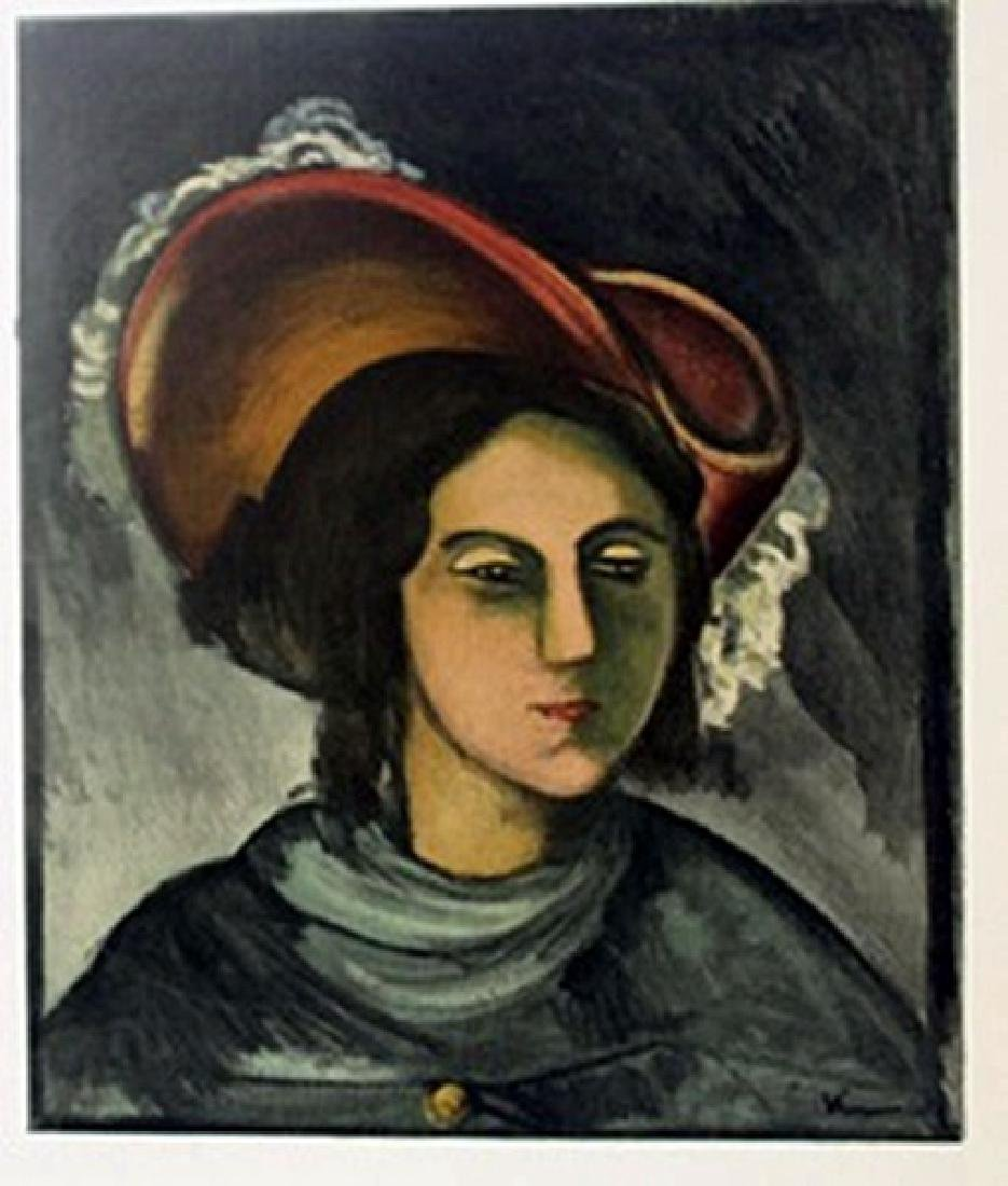 Portrait f  Madeleine - Lithograph  -  Maurice de