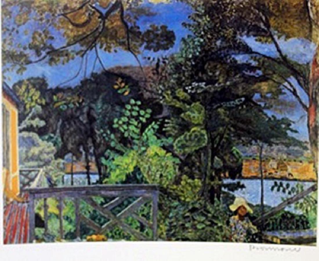 Riverside  - Signed Lithograph -  Bonnard
