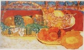 Still life with fruit - Lithograph -  Bonnard