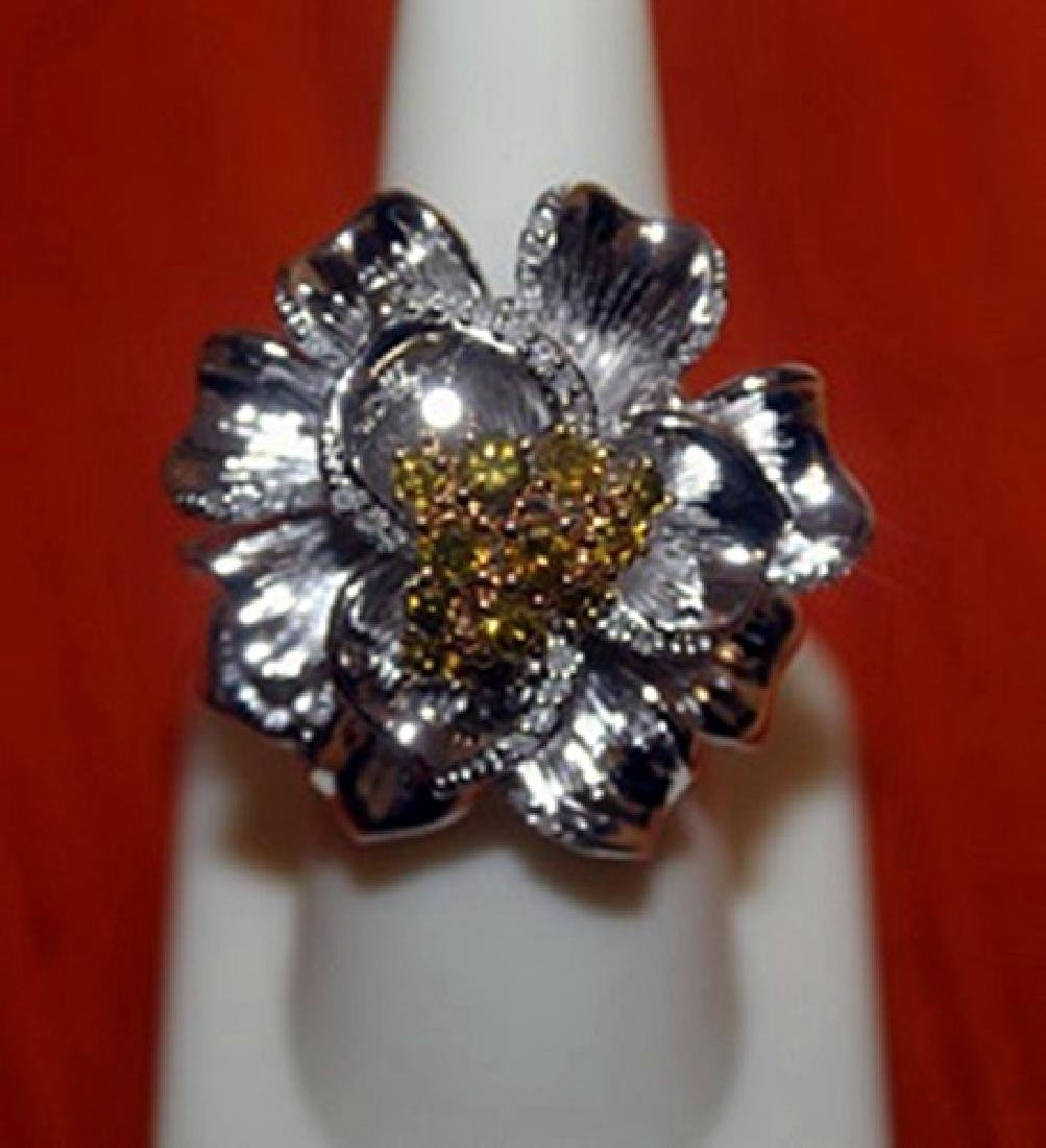 Delightful Flower Shaped Ring