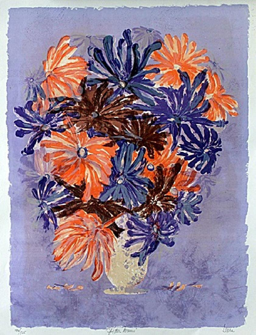 "Serigraph ""Spider Mums"" after Hari Hockey"