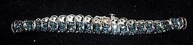 Lady's Gorgeous Silver Bracelet with Lab Alexandrites