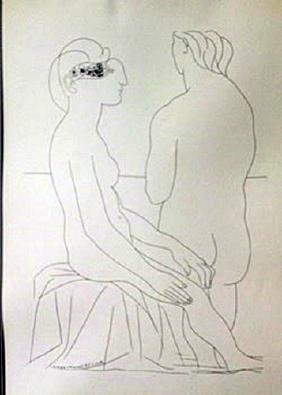 TwoNudes 1933 Lithograph -  Picasso