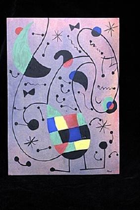 Woman In The Moon - Joan Miró - Oil On Paper