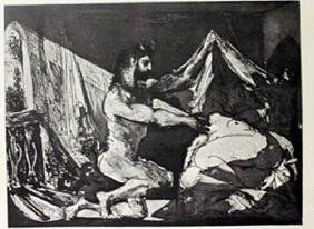 Satyr and Sleeping women - Lithograph -  Picasso
