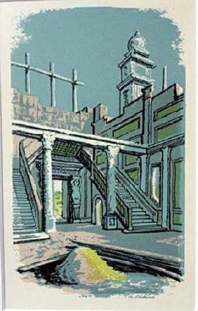 Tint of blue - Lithograph  Legrand