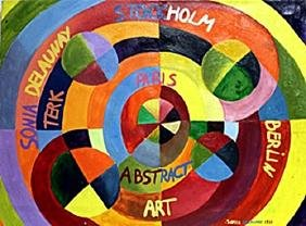 Rythme Colore 1939' Oil Painting - Sonia Delaunay