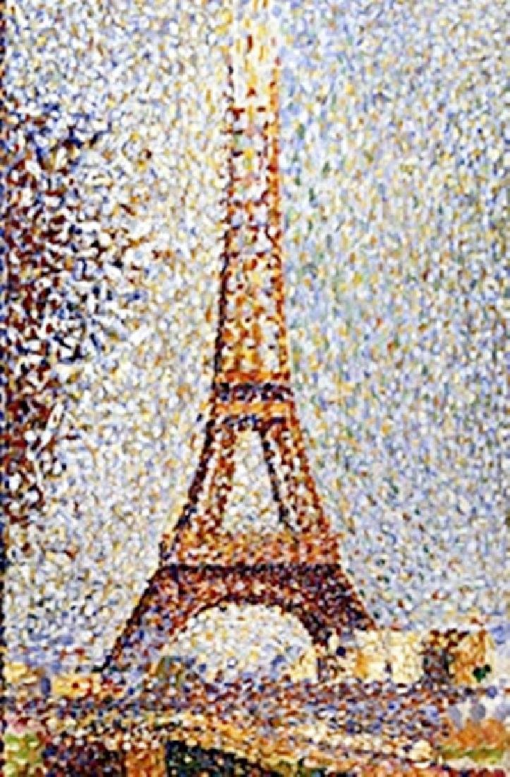"""Print """"Eiffel Tower"""" after Georges Seurat"""
