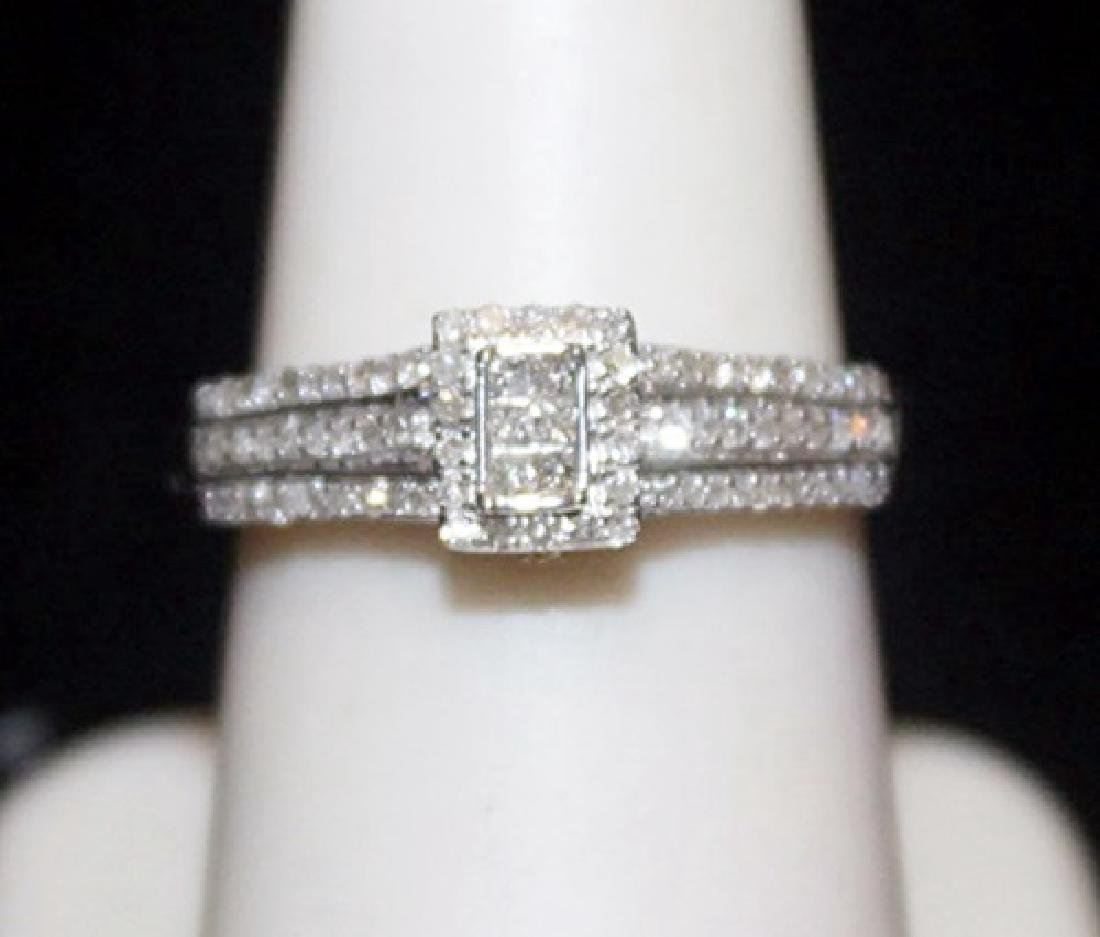Lady's Fancy Silver Ring with Diamods (188I)