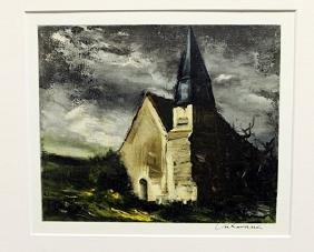 Church At Saint-lubin-de-cravant - Maurice De Vlaminck