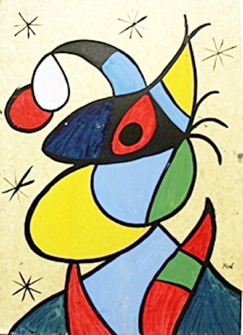 Brujacon Sombrero - Oil on Paper - Joan Miro