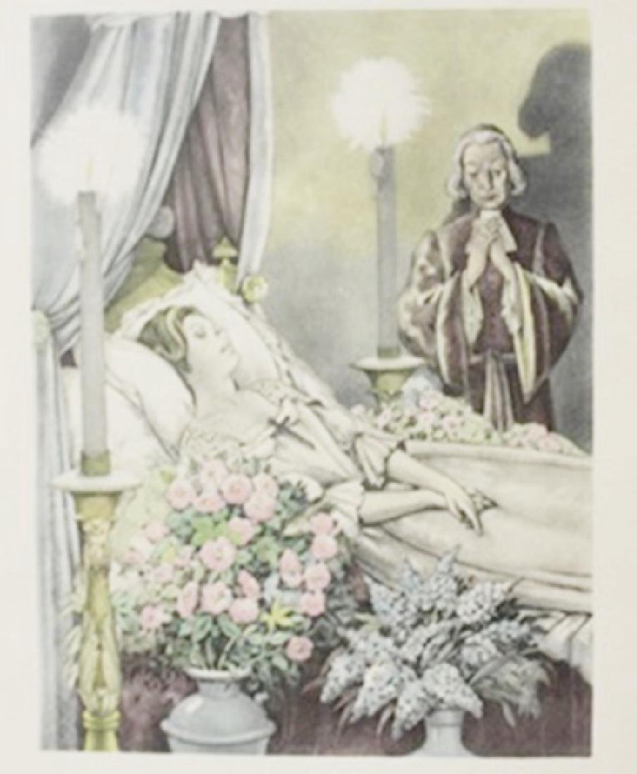 Priest with a bride - Lithograph -  Legrand