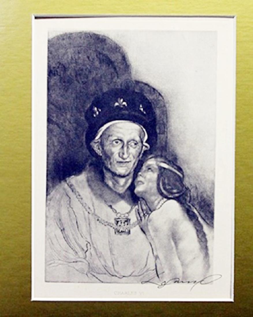 Charles VI - Louis Legrand - Original Drawing