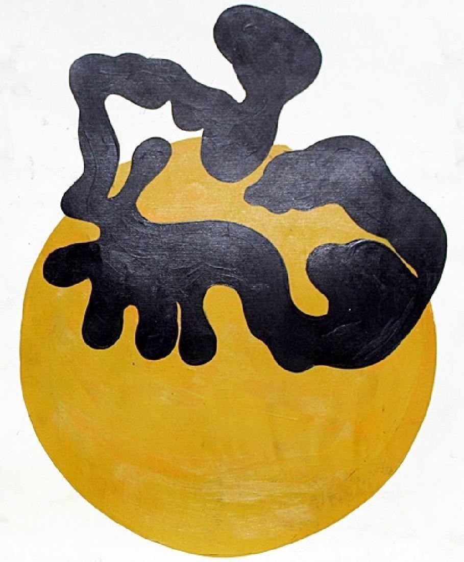 Oil Painting on Paper - Jean Hans Arp