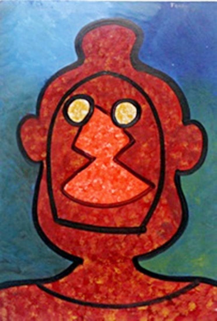 El Hombre Sin Sombra - Oil on Paper - R. Tamayo