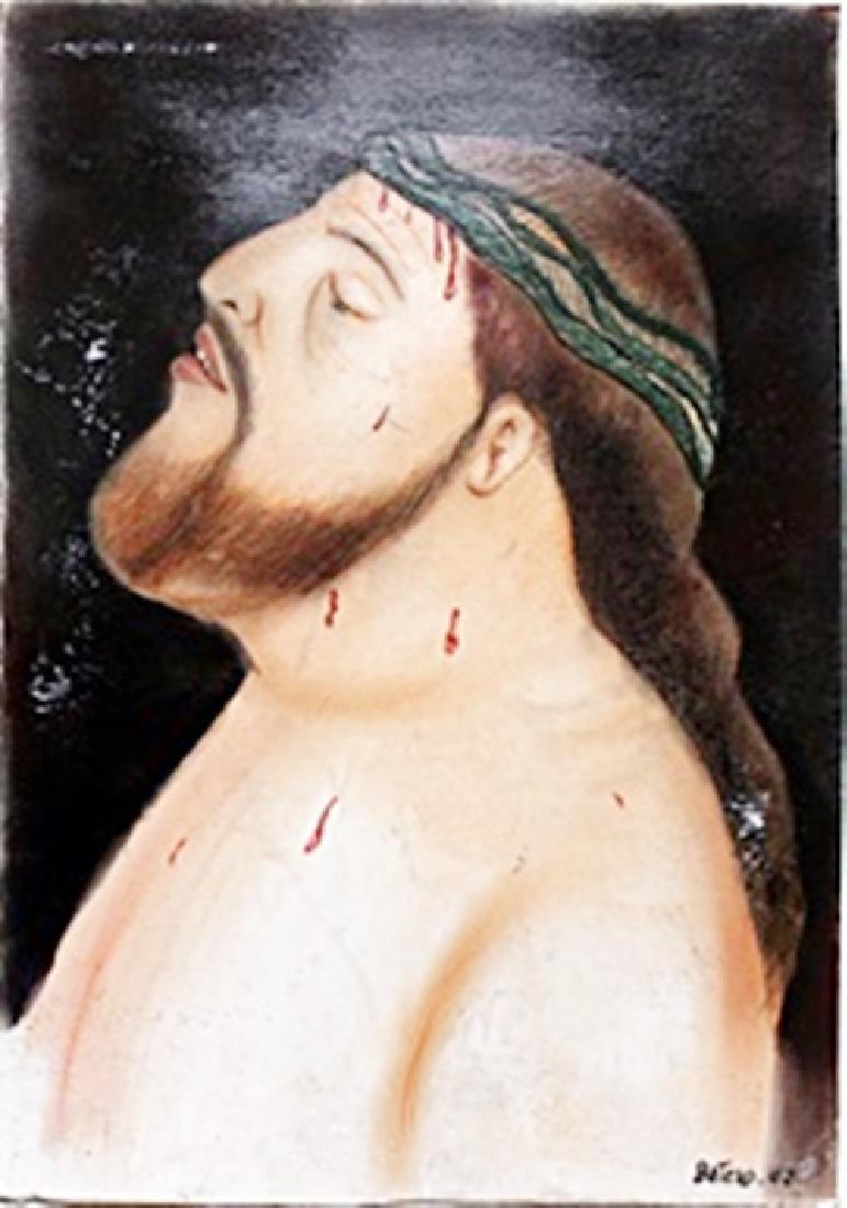 Prisonero Con Espinas - Pastel Drawing - F. Botero