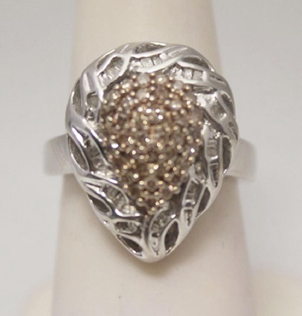 Gorgeous Pear Shape Champagne & Baguette Diamonds
