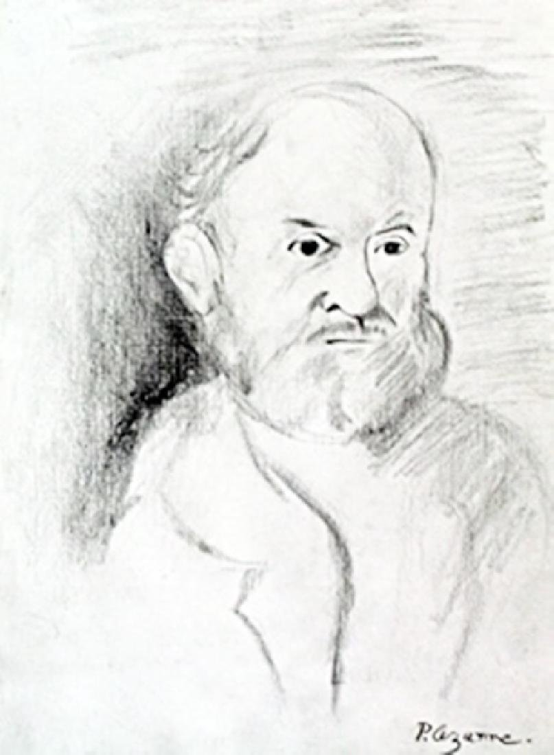 Self Portrait - Drawing on Paper - Paul Cezanne